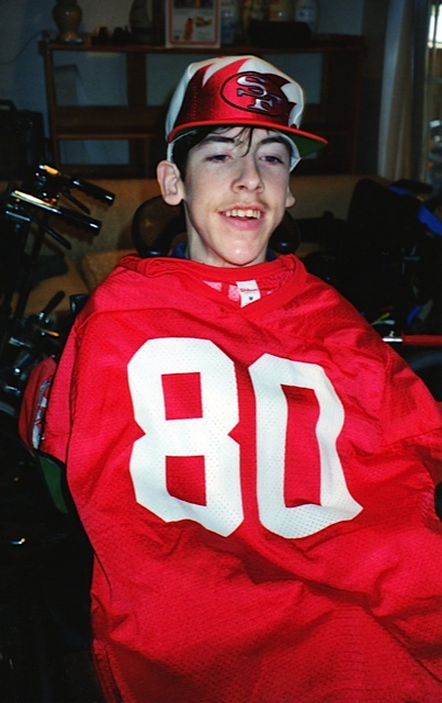 Alan with his Jerry Rice jersey