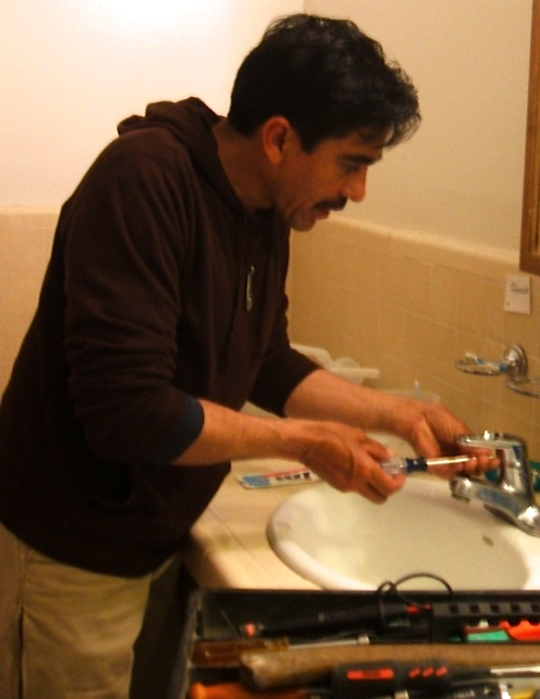 Alberto has his handyman business.