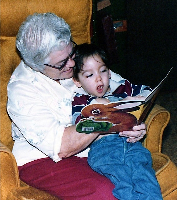 Ben with Grandma Aiken