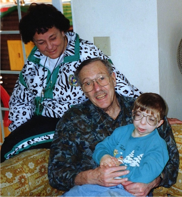 Ilan with his maternal (birth) grandparents