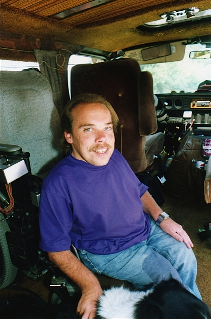 Once inside, he transferred from his wheelchair to the driver's seat