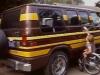 Jay's van. He used motorcycle ramps to get his wheelchair in.