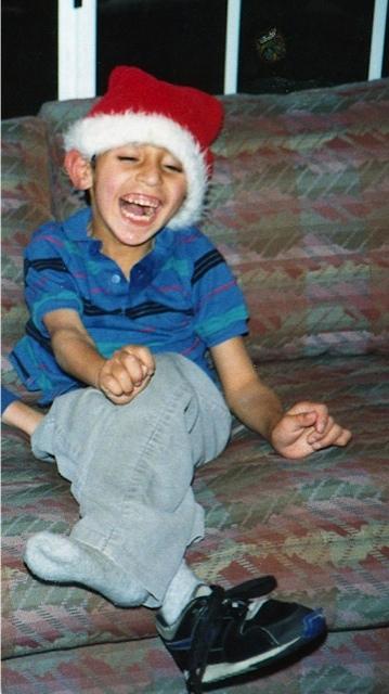 Jose playing Santa