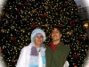 Kolya and his friend Beth in San Francisco at Christmas time