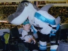 Kyle being eaten by Sharkie (San Jose Sharks mascot)
