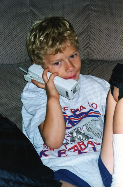 Even when younger, the phone was close to Paul's ear. The same holds true today, but more texting than talking