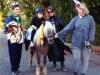 Trick-or-treat on horseback