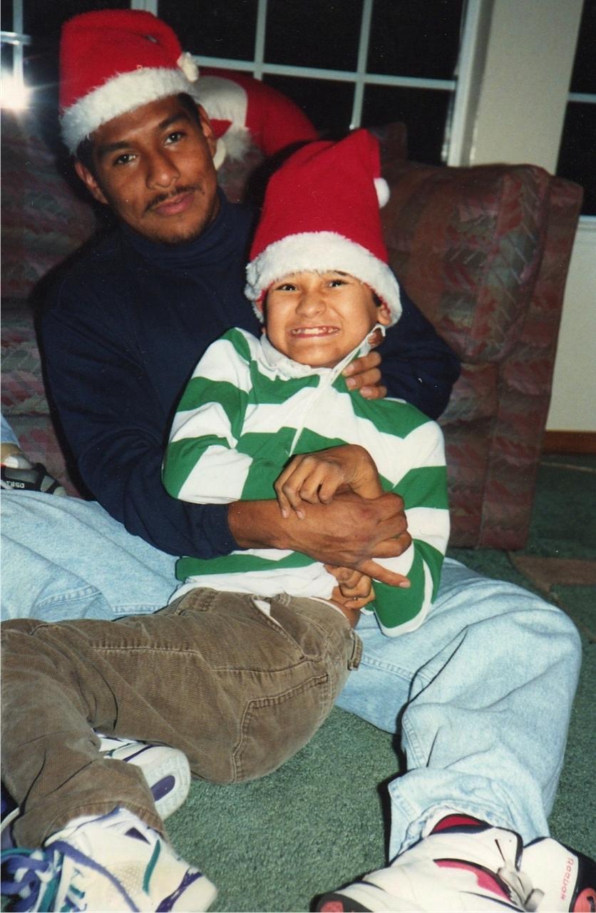 Raymond with Carlos, helper