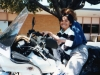 Raymond on a motorcycle with his foster mom