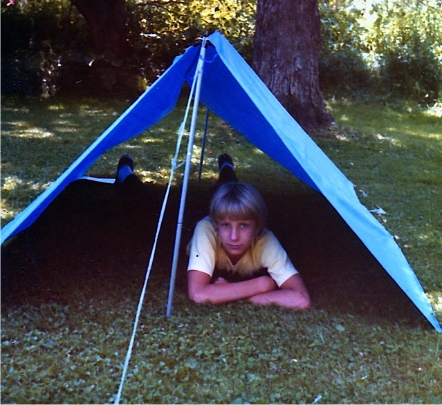 Rossie on a camping trip with me.
