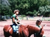 Taking a relaxing ride during handicapped riding session