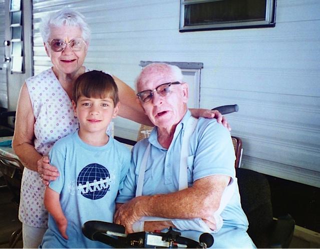 Sergei visiting his grandparents in Arizona