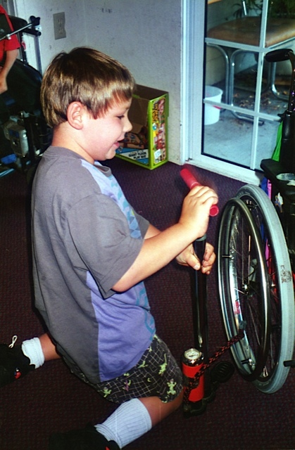 Victor is very particular about his wheelchairs and makes sure they are in good condition