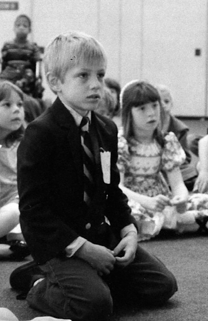 Easter Sunday at church. Vitya liked to dress nice for church and sometimes school.