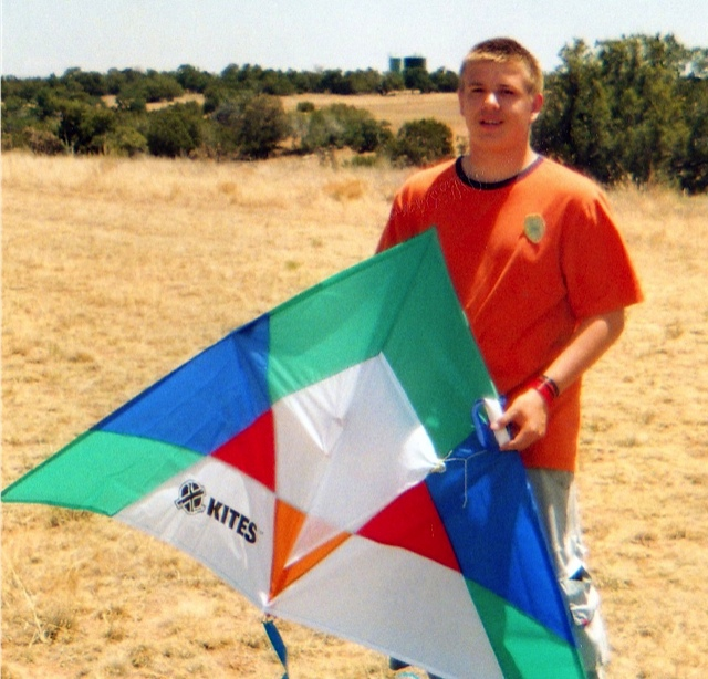 Flying kites in new Mexico