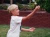 Our friend Cathi teaches Vitya to juggle