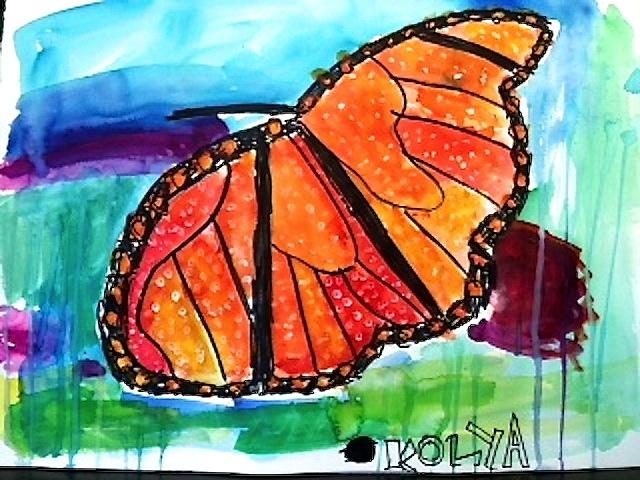 Koylas' butterfly painting