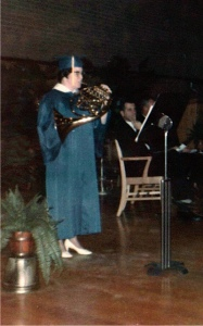 Playing French Horn at my high school graduation