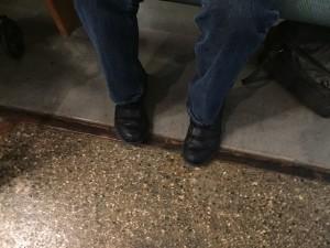 Photo of Kolya wearing shoes